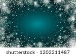 snow frost effect on green blue ... | Shutterstock .eps vector #1202211487