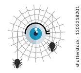happy halloween spiders in... | Shutterstock .eps vector #1202218201