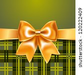 tartan background with ribbon... | Shutterstock .eps vector #120222409