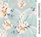 vector seamless floral pattern... | Shutterstock .eps vector #1202224921