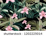 seamless bright artistic... | Shutterstock .eps vector #1202225014
