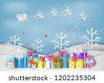 illustration of merry christmas ... | Shutterstock .eps vector #1202235304