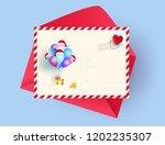 illustration of postcard merry... | Shutterstock .eps vector #1202235307