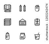 stock school accessories icon ...