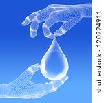 high resolution water drop... | Shutterstock . vector #120224911