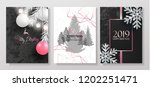 2019 merry christmas and happy... | Shutterstock .eps vector #1202251471