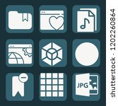 contains such icons as cube ... | Shutterstock .eps vector #1202260864