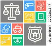 simple set of  10 outline icons ... | Shutterstock .eps vector #1202261947