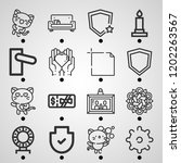 simple set of  16 outline icons ... | Shutterstock .eps vector #1202263567