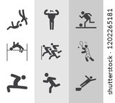 simple collection of exercise... | Shutterstock .eps vector #1202265181