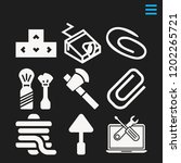set of 9 tool filled icons such ...   Shutterstock .eps vector #1202265721