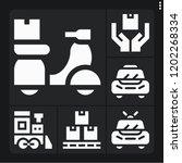 set of 6 transportation filled... | Shutterstock .eps vector #1202268334