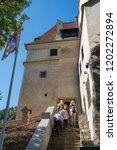 bran  transylvania romania  ... | Shutterstock . vector #1202272894