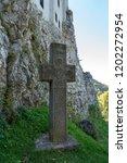 bran  transylvania romania  ... | Shutterstock . vector #1202272954