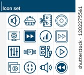 contains such icons as music... | Shutterstock .eps vector #1202275561