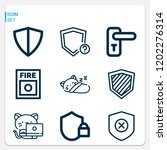 simple set of  9 outline icons... | Shutterstock .eps vector #1202276314