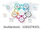 pentagons label infographic... | Shutterstock .eps vector #1202276521