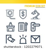 simple set of  9 outline icons... | Shutterstock .eps vector #1202279071