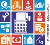 set of 13 business filled icons ... | Shutterstock .eps vector #1202282437