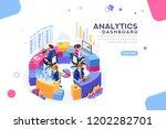 charts key server statistic ... | Shutterstock . vector #1202282701