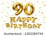 raster copy happy birthday 90th ... | Shutterstock . vector #1202284744