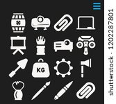 set of 16 tool filled icons...   Shutterstock .eps vector #1202287801