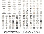 vintage retro vector logo for... | Shutterstock .eps vector #1202297731