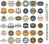 vintage retro vector logo for... | Shutterstock .eps vector #1202297734
