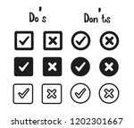 vector black confirm icons set... | Shutterstock .eps vector #1202301667