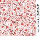 seamless background with  hearts | Shutterstock .eps vector #120232651