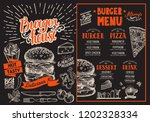 burger restaurant menu. vector... | Shutterstock .eps vector #1202328334