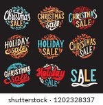 set of christmas sale... | Shutterstock .eps vector #1202328337