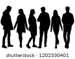 vector silhouettes men and... | Shutterstock .eps vector #1202330401