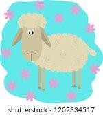 sheep abstract flat... | Shutterstock .eps vector #1202334517