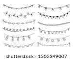 set of hand drawn sketch... | Shutterstock .eps vector #1202349007