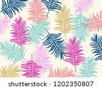 tropical jungle leaves seamless ... | Shutterstock .eps vector #1202350807