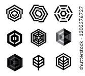 vector logo design elements set ... | Shutterstock .eps vector #1202376727