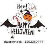 halloween cute pumk ns | Shutterstock .eps vector #1202380444