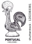 portugal rooster cock symbol.... | Shutterstock .eps vector #1202383381