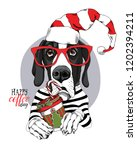 adorable great dane dog in a... | Shutterstock .eps vector #1202394211