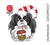 adorable japanese chin dog in a ... | Shutterstock .eps vector #1202394217