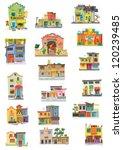 mexico city facades   cartoon   ... | Shutterstock .eps vector #120239485