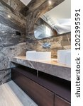 sinks made of white ceramic in... | Shutterstock . vector #1202395591