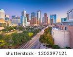 houston  texas  usa downtown... | Shutterstock . vector #1202397121