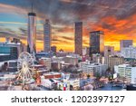 atlanta  georgia  usa downtown... | Shutterstock . vector #1202397127