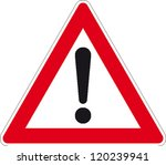 traffic sign attention | Shutterstock .eps vector #120239941