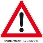 traffic sign attention | Shutterstock .eps vector #120239941