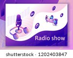 podcast isometric 3d... | Shutterstock .eps vector #1202403847