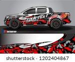 pickup truck wrap design vector....   Shutterstock .eps vector #1202404867