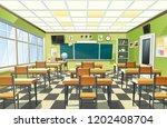 school classroom class room... | Shutterstock .eps vector #1202408704